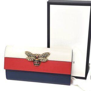 Gucci Queen Margaret Pearl Bifold Wallet Brand New